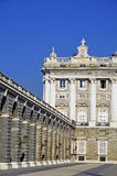 Detail of Royal Palace in Madrid Royalty Free Stock Images