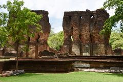 Details of ruins at Polonnaruwa Royalty Free Stock Photo