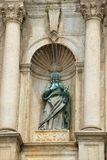 Detail of the ruin of the facade of the St. Paul`s catholic cathedral in Macau, China. Royalty Free Stock Photography