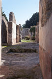 Detail of the ruined city,Pompeii. In Italy Stock Photography
