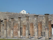 Detail of the ruined city,Pompeii. In Italy Royalty Free Stock Photos