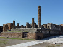Detail of the ruined city,Pompeii. In Italy Stock Images