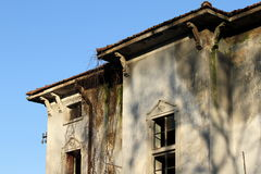 Detail of ruined house Royalty Free Stock Image