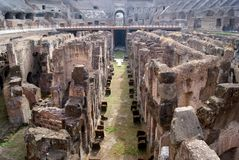 Detail of ruins in Colisseum Royalty Free Stock Photos