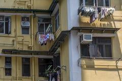 Detail of run down apartment buildings Royalty Free Stock Image
