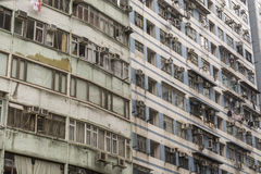 Detail of run down apartment buildings Stock Images