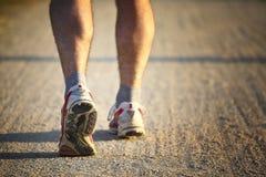 Detail of runner stock photo