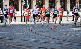 Detail of runners on 3rd km of PIM Royalty Free Stock Image