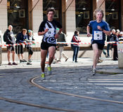 Detail of runners on 5rd km of PIM Stock Photo