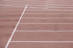 Detail of a running track Stock Images