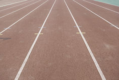 Detail of a running track Royalty Free Stock Photo