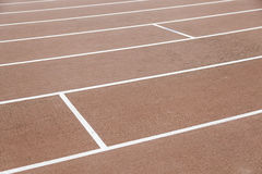 Detail of a running track Stock Photos