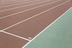 Detail of a running track Royalty Free Stock Photography