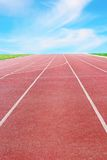 Detail of a running track Royalty Free Stock Images