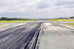 Detail of runway with pattern Royalty Free Stock Photography