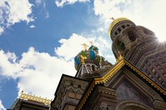 Detail of Russia Orthodox Church Spas na Krovi, St. Petersburg Stock Photo