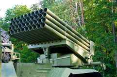 Detail of a Russian BM-21-1. Royalty Free Stock Images