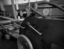 Detail of a rusted machine, Black and White Royalty Free Stock Photo