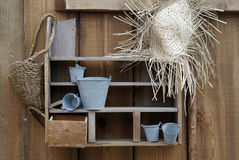 Detail of a rustic decoration Royalty Free Stock Images