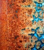 Beautiful Rust Patterns in Steel Royalty Free Stock Photography