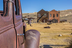 Detail of a rusty car in Bodie State Park Stock Image