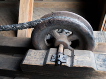 Detail of a rusty drag metal wheel Stock Photography