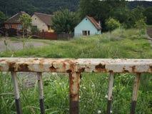 Rusty bridge in east europe. Detail of rusty metallic bridge in east europe royalty free stock photo