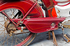 Detail of a rusty old motorbike Royalty Free Stock Photo