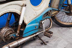 Detail of  rusty old motorbike Royalty Free Stock Photo