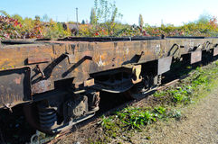 Detail of rusty railways royalty free stock photos