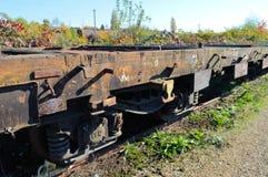 Detail of rusty railways Royalty Free Stock Photos