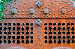 Detail of rusty steam boiler Royalty Free Stock Photo