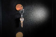 Detail of Safe. With Bunch of Keys Royalty Free Stock Photography