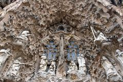 Detail of Sagrada Familia Royalty Free Stock Photo