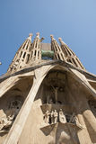 Detail of sagrada Familia Church, Barcelona Stock Photo