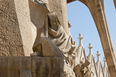 Detail of sagrada Familia Church, Barcelona Stock Photos