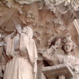 Detail of the Sagrada Familia church. Barcelona, Spain - December 30, 2001 : Sagrada Familia church stock images