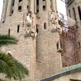 Detail of he Sagrada Familia church. Barcelona, Spain - December 30, 2001 : Sagrada Familia church in Barcelona stock photography