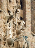 Detail of Sagrada Familia church in Barcelona, Spain. Stock Photo