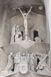 Detail of Sagrada Familia (Holy Family). Crucifixion of Christ Royalty Free Stock Photography