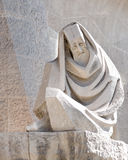Detail of sagrada familia sculpture, barcelona Stock Images