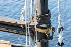 Detail of sail mast Stock Photo
