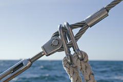 Detail of sailboat rigging Royalty Free Stock Photos