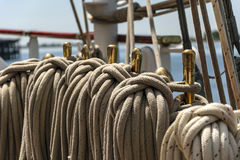 Detail of a sailboat Stock Photo