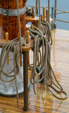 Detail of sailing ship. Detail of the deck and mastfoot of a sailing ship Stock Photography