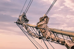Detail of a sailing ship Royalty Free Stock Photography