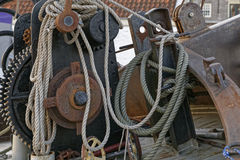 Detail of a sailing ship Royalty Free Stock Photos