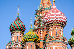 Detail of Saint Basils in Moscow Royalty Free Stock Images
