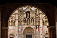 Detail of saint George cathedral in Ferrara, Italy Stock Photos