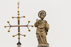 Detail of Saint mark basilica sculpture at Venice. Stock Photography